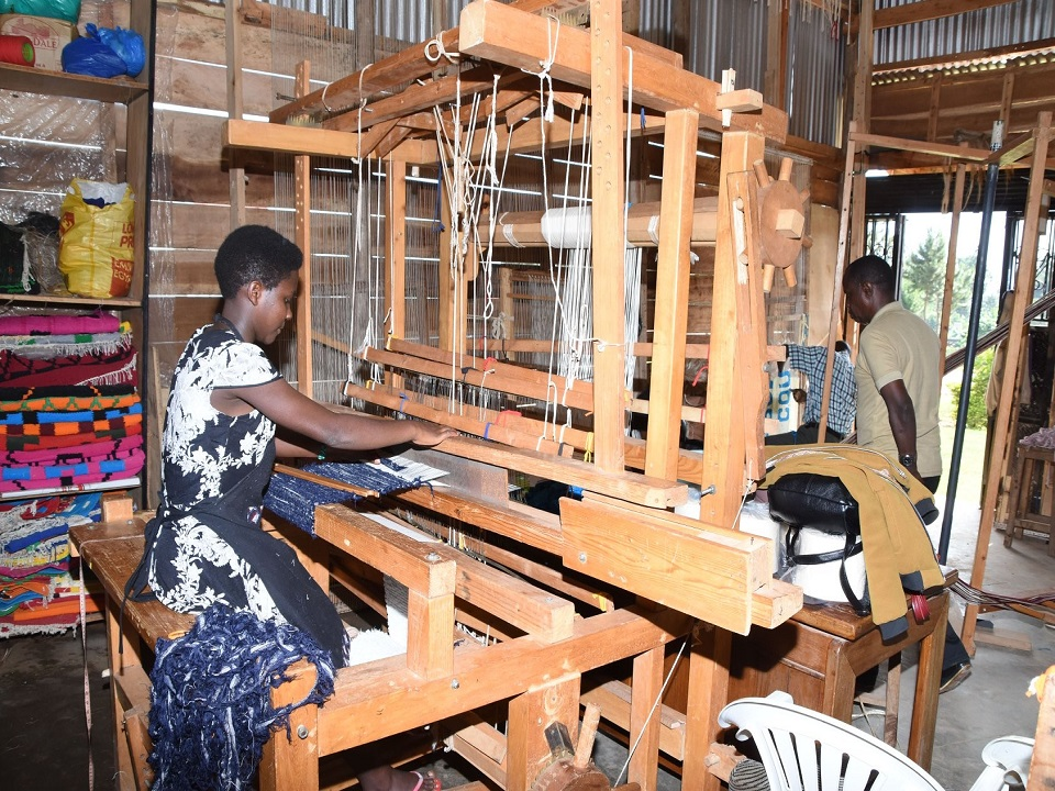 handloom weaving at TEXFAD